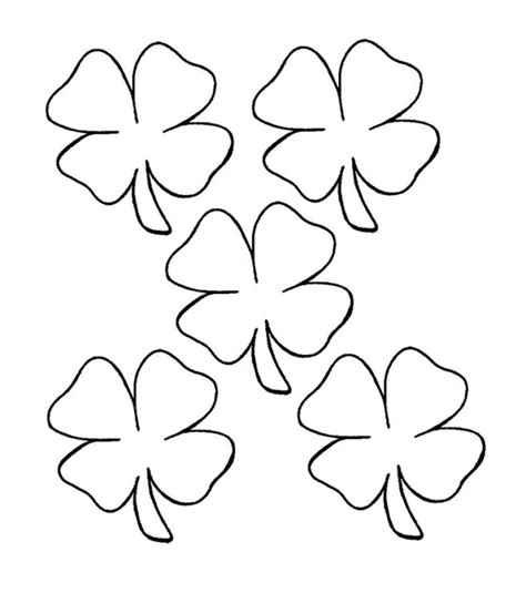 coloring page of small leaves printable 4 leaf clover coloring home