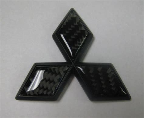 mitsubishi emblem carbon fiber mitsubishi emblem black and black