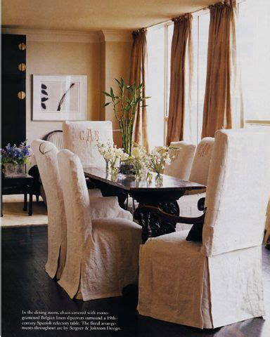 the wrinkle room formal dining room feels comfy w wrinkle chic belgian linen slipcovered chairs renea abbott