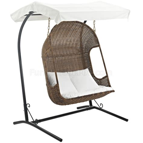 outdoor swing chair vantage outdoor patio wood swing chair by modway