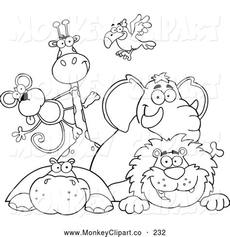 Animals Clipart Outline Clipground Outline Pictures Of Animals For Colouring