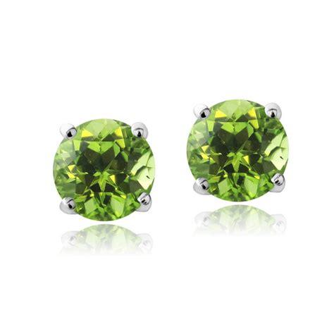 Peridot August Gemstone by Swarovski Elements Peridot August Birthstone Stud Earrings