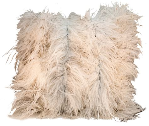 Ostrich Feather Pillow by Fall Into Pillows Sophisticated Magazine