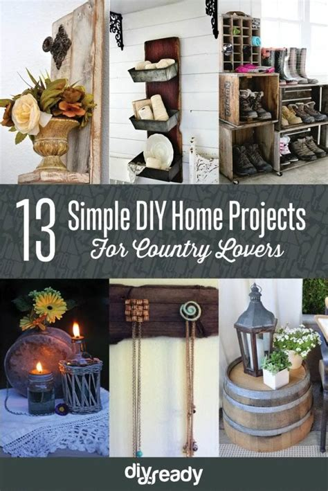 diy country home decor best diy living room decor ideas diy projects craft ideas