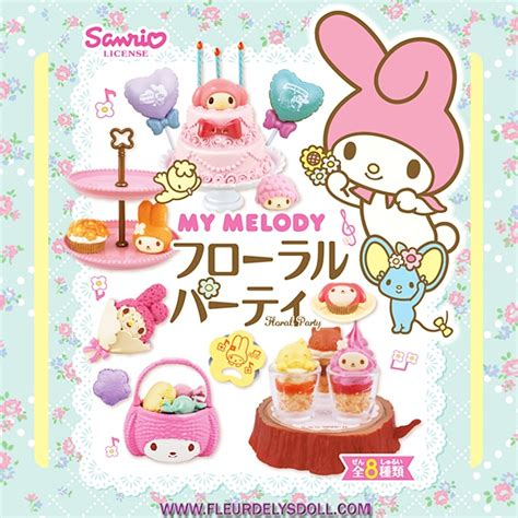 Re Ment My Melody Winter re ment miniature re ment sanrio miniature my melody floral set lati yellow blythe pullip