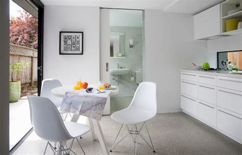 White Dining Room Chair the sleek beauty of modern terrazzo floors