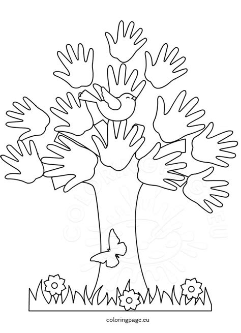 printable version of the kissing hand 45 coloring page hand free printable coloring page hand
