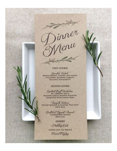 wedding menu template download edit fill sign online