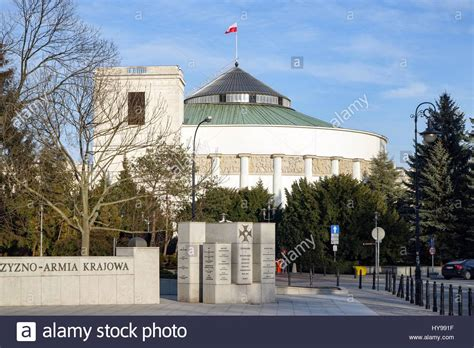 house of polish poland sejm building in warsaw the lower house of the polish stock photo royalty free image