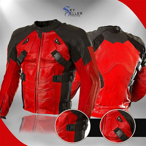and black motorcycle jacket deadpool and black motorcycle leather jacket
