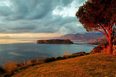 gambar pemandangan laut pantai pohon alam horison