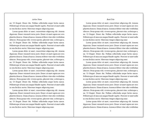 Ms Word Book Template