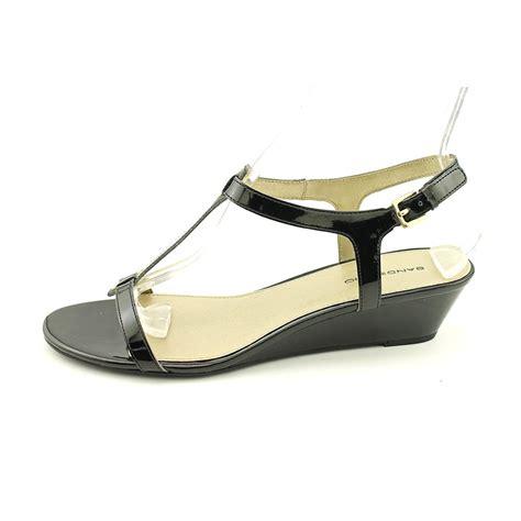 wedge sandals size 11 bandolino gurrey womens size 11 black wedge sandals shoes