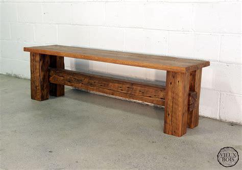 banc en bois occasion vieuxbois bois de grange design 201 b 233 nisterie laurentides