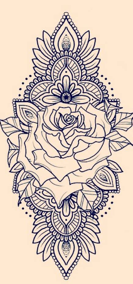 rose tattoo desing for my thigh ink thighs and tatting