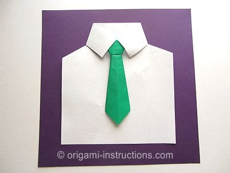 Shirt And Tie Origami - easy origami shirt and tie madalyn8