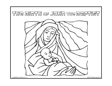 coloring pages of the birth of john the baptist baptism of jesus coloring pages for john the baptist birth