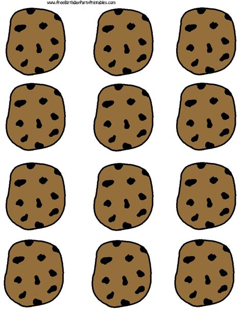 Chocolate Chip Cooke Printable Template Cookies Label Template