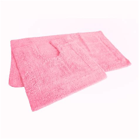 pink bath mat set 100 cotton tonys textiles