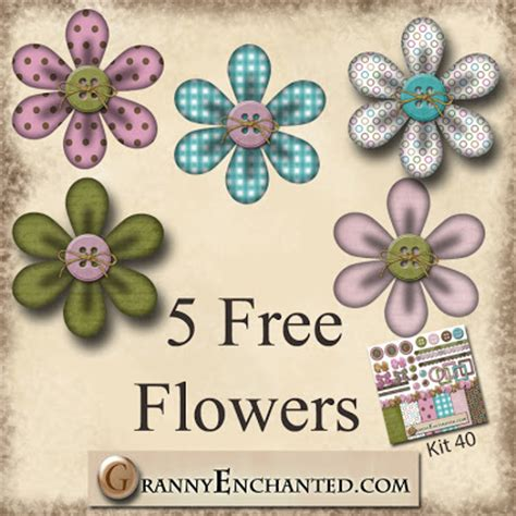 printable scrapbook flowers granny enchanted s blog free digi scrapbook flowers