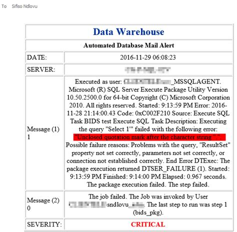 format email sql how to setup sql agent job alerts to include ssis catalog