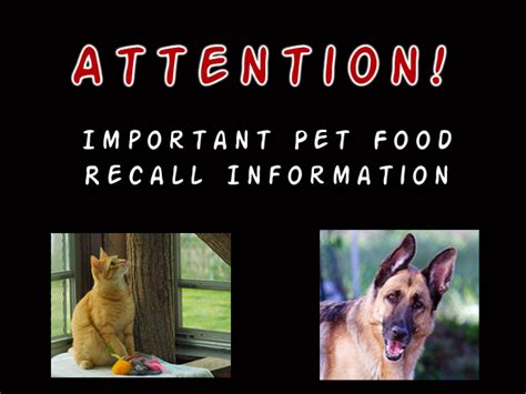 Pet Food Recall by Animalpalooza More Pet Food Recalls