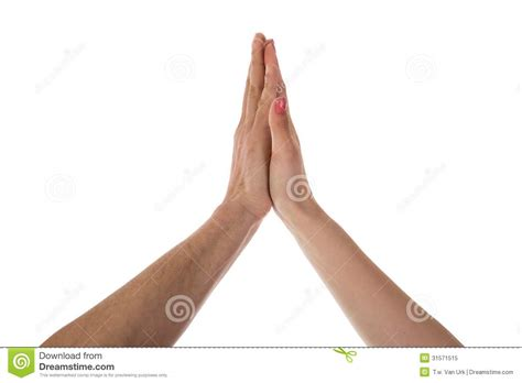 how to a to high five two a high five stock image image 31571515
