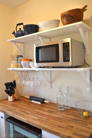 How To Make Simple Wooden Shelf Brackets by Best 20 Microwave Shelf Ideas On Pinterest