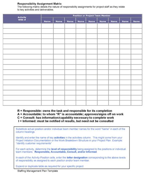 download staffing management plan template for free page