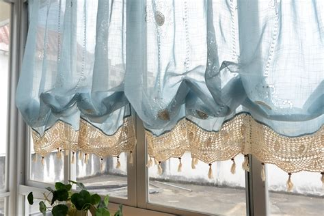 pull up curtains blue purple adjustable pull up balloon shade curtain