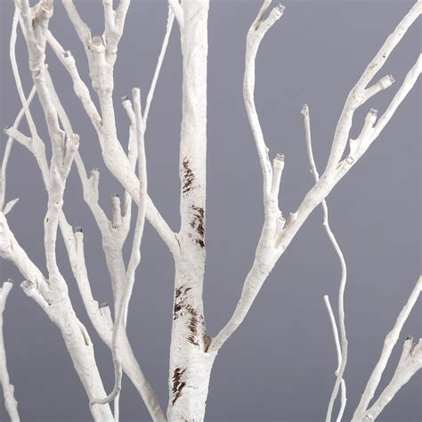 1 5m 5ft 72led silver birch twig tree warm white light
