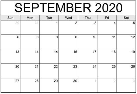 september  calendar template printable holidays images  platform  digital solutions