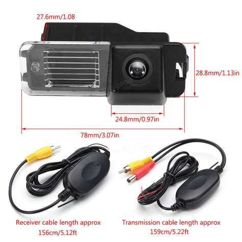 wireless car ccd reverse rear view backup camera  vw golf vi polo  passat cc sale banggoodcom