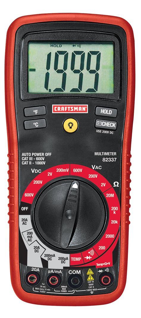 diode mode on multimeter craftsman 82337 digital multimeter with manual ranging 8 function sears outlet