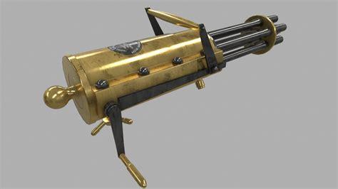 Kaos 3d Gafting Gun gatling machine gun 3d obj