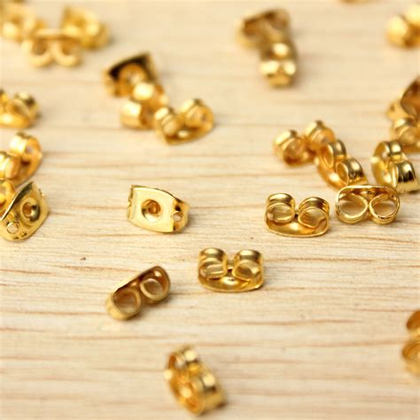 wholesale 50pcs gold plated butterfly earring backs