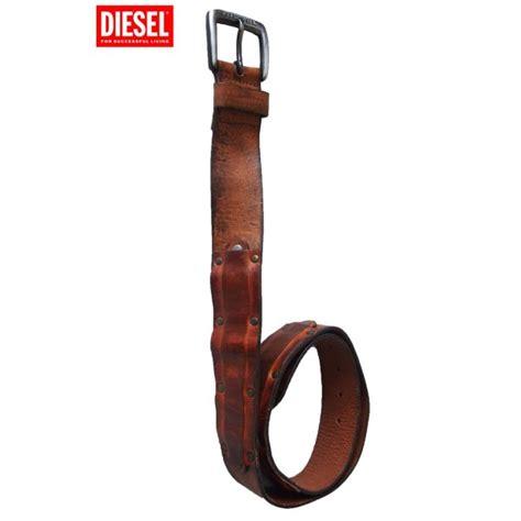 Diesel Leather Brown diesel belt real leather brown barok