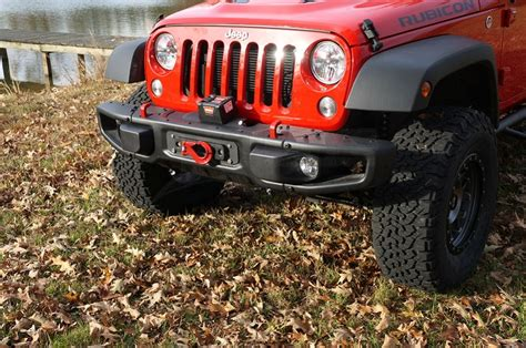 Galerry jeep jk stock bumper winch mount