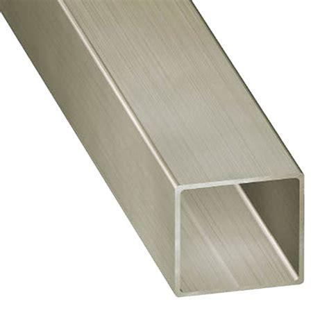 tubos cuadrados de pvc tubo cuadrado acero inoxidable gris plata ref 13843802