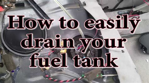 how to get water out of fuel tank boat how to easily drain your fuel tank youtube