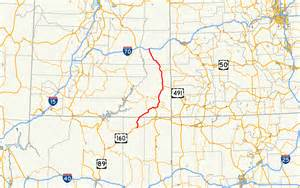 us map with highway routes u s route 163