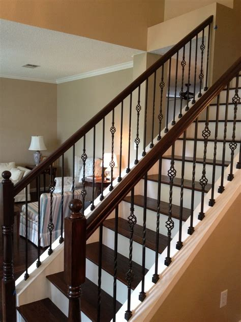 metal banister rail wrought iron stair railings for creating awesome looking