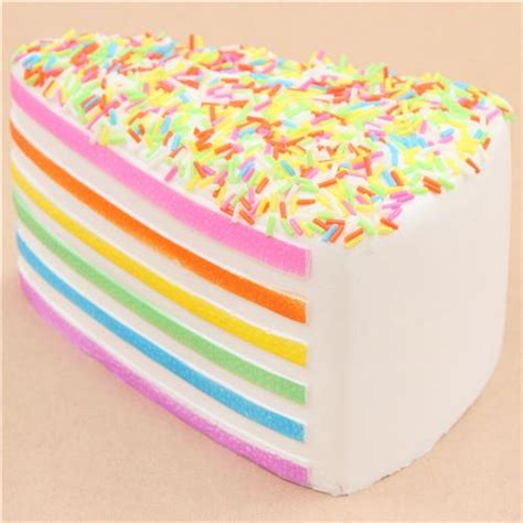 Squishy Rainbow Cake by White Rainbow Cake With Sprinkle Squishy Kawaii