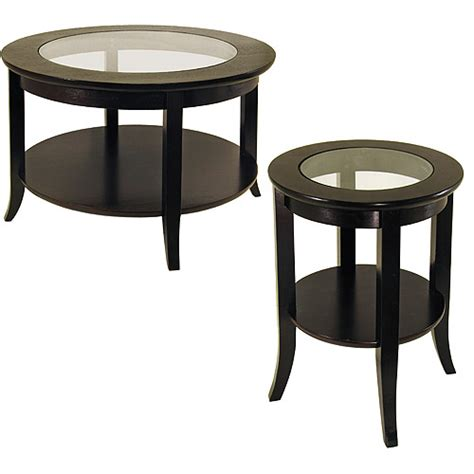 genoa 2 coffee end table value bundle espresso