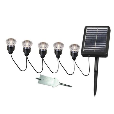 Nova Solar Deck Dock And Path Light 5 Light String With Solar Deck Lights With Remote Panel