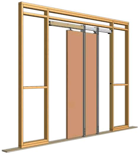 Pocket Door Opening by Pocket Door Hardware Knc Crowderframe Type B Pocket Door