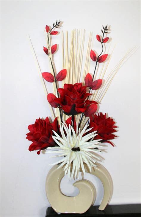 vases marvellous contemporary vase arrangements artificial silk flower arrangement red cream flowers