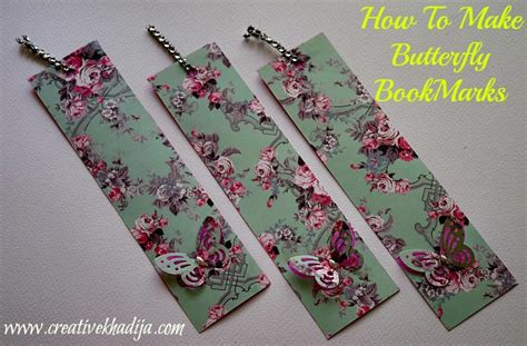 How To Make Handmade Paper - how to make bookmarks with butterfly paper punch