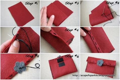 Handmade Pouch Tutorial - a cup of sparkle handmade felt jewelry bag tutorial