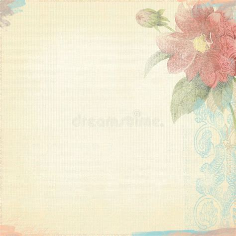 grunge paper floral background stock illustration illustration 19511049 grunge background worn look ivory light flowers bohemian deco stock illustration